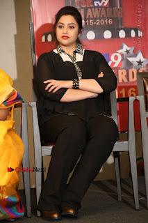 Tamil Actress Meena Latest Stills in Black Dress at TSR TV9 Awards Press Meet  0149.JPG