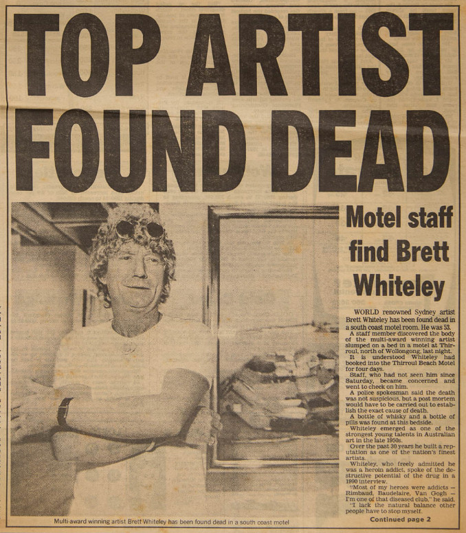 Brett Whiteley And Thirroul Life Death