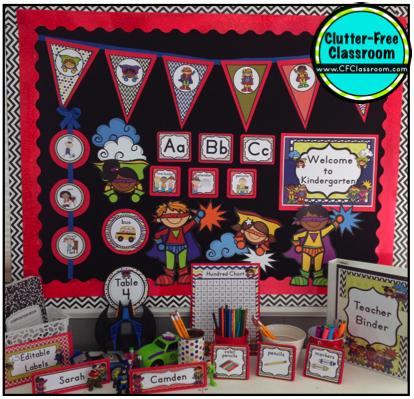 Superheroes/Superkids Themed Classrooms - Clutter-Free ...