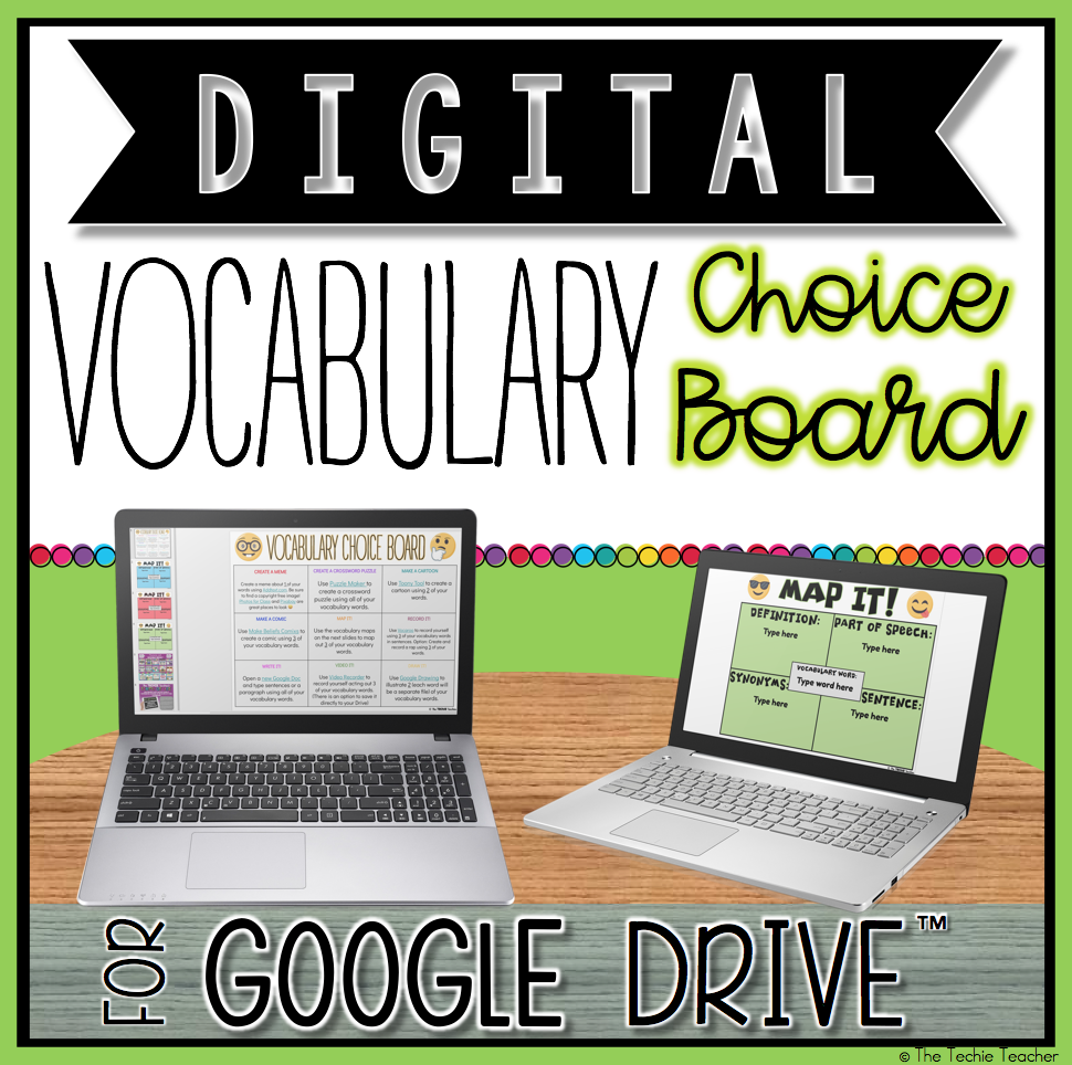 Digital Vocabulary Choice Board for Google Drive™