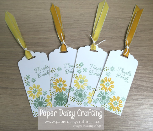 Bloom by bloom gift tags Stampin Up