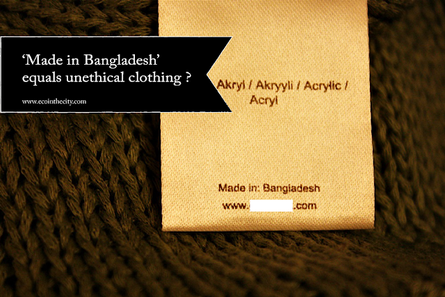 Clothing label 'Made in Bangladesh'