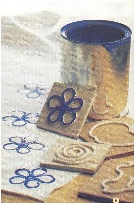 Estampar tejidos con cuerda