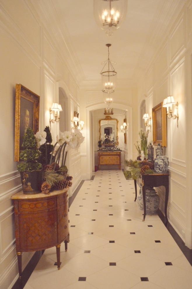Marble flooring in hallway of The Enchanted Home