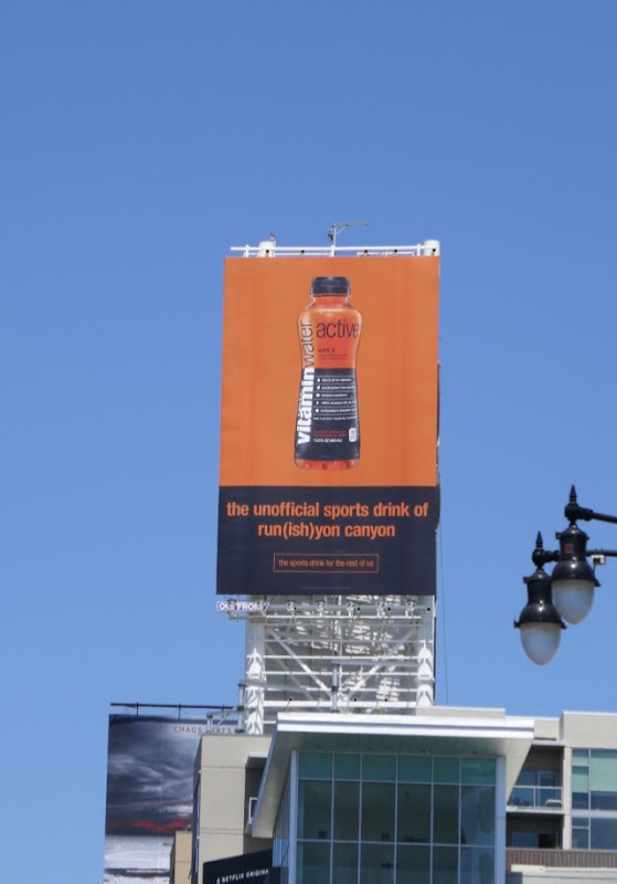 Vitaminwater Active Runyon Canyon billboard
