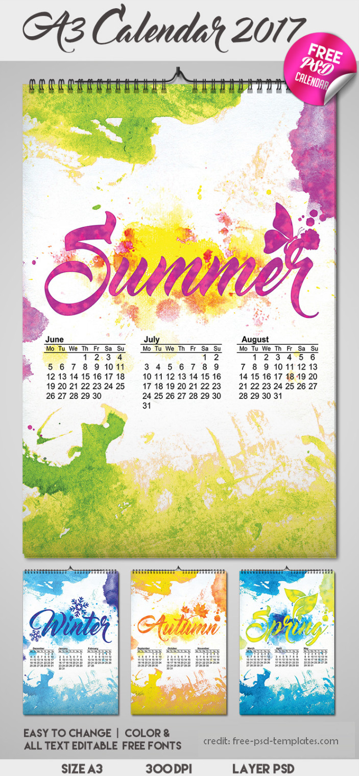 Desain Kalender 2017 Keren