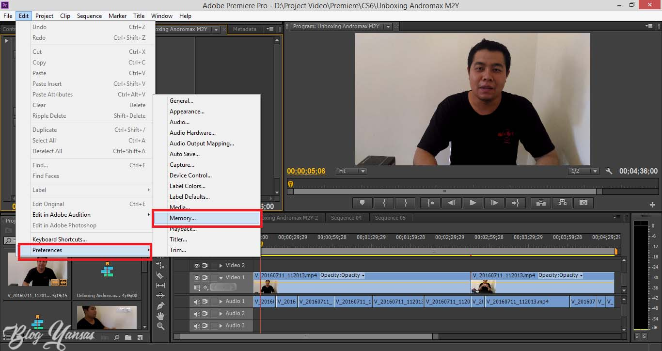 Buka Adobe Premiere Pro CS6 kalian dan buat dulu project video kalian ...