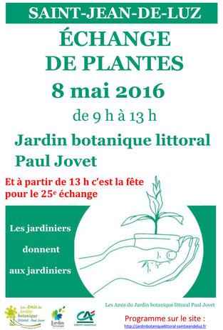 Echange de plantes saint jean de luz 2016 - Jardin botanique littoral paul jovet ...