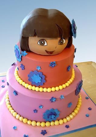 Family Crafts And Recipes Dora The Explorer Birthday Cake