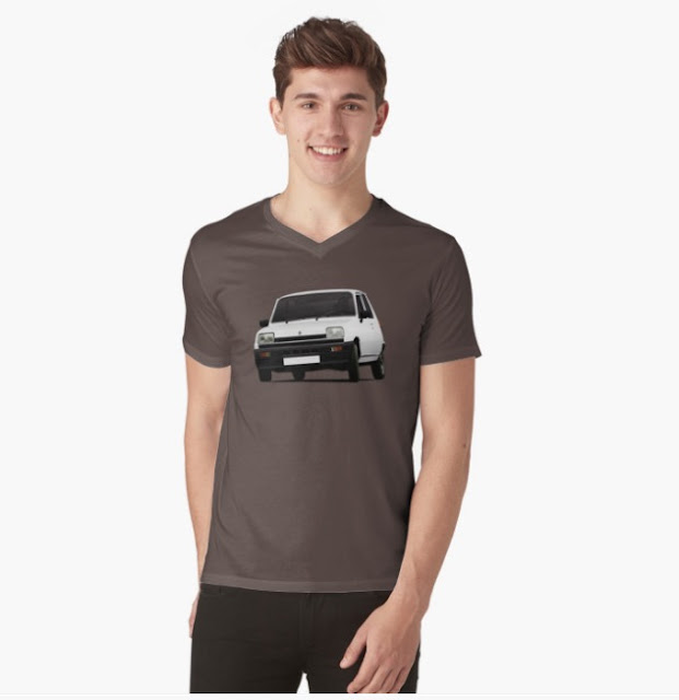 Renault 5 white cool t-shirt redbubble