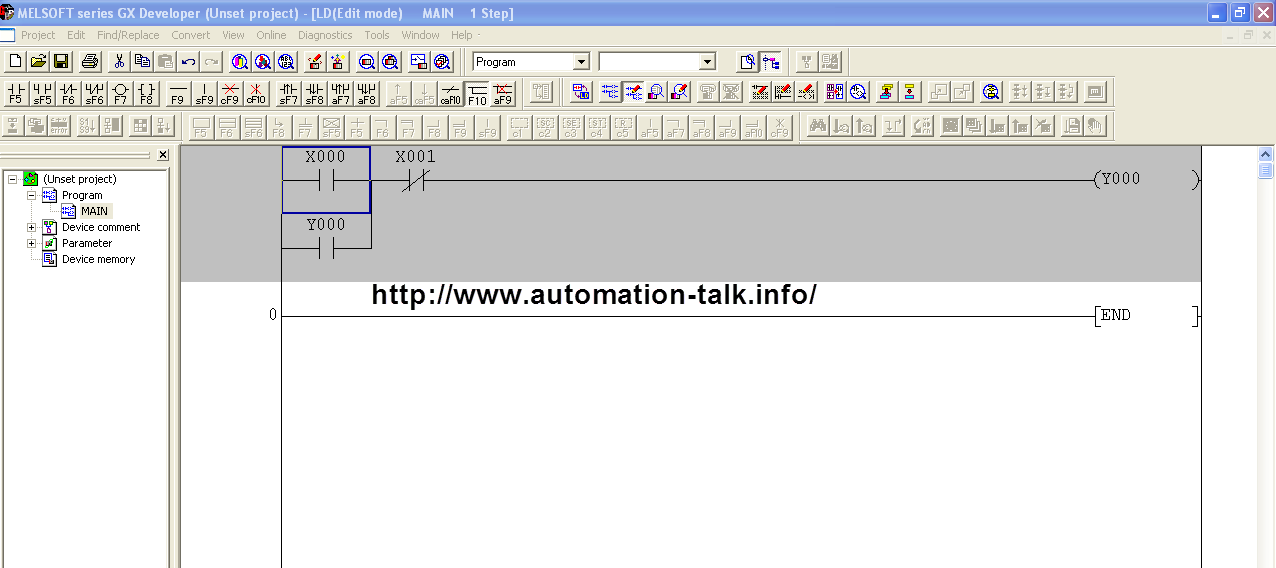 Making My First Program In GX Developer ~ Automation-Talk