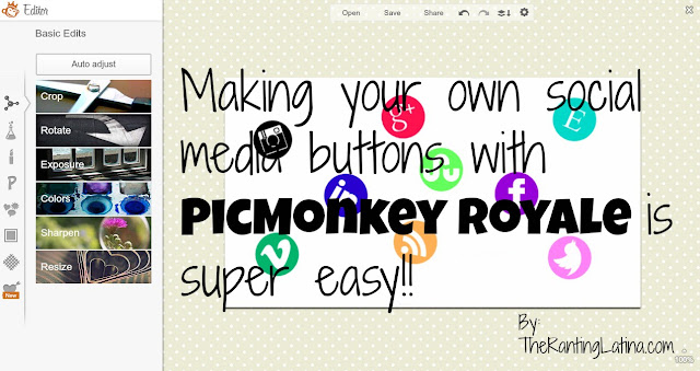 Social media buttons with PicMonkey
