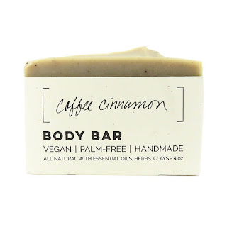 handmade natural soap made from coffee and cinnamon essential oils