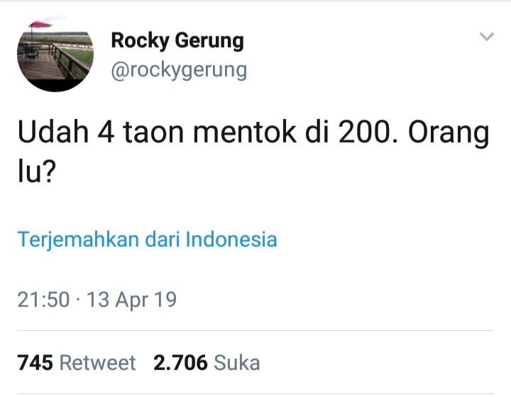 Debat Pamungkas, Cuitan Rocky Gerung Sadis!