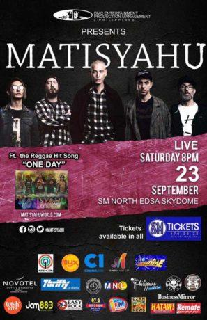 2017 Matisyahu Concert Live @ SM North Edsa on September 23