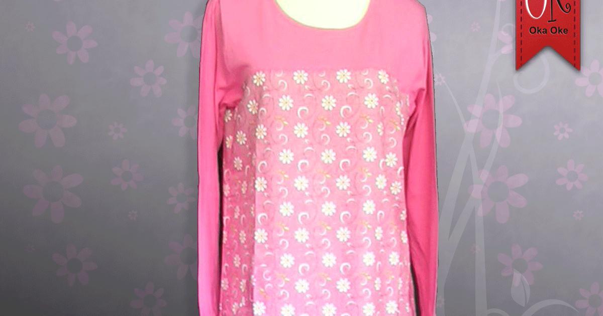 Baju Gamis Terbaru Bahan Kaos Katun Dengan Harga Murah