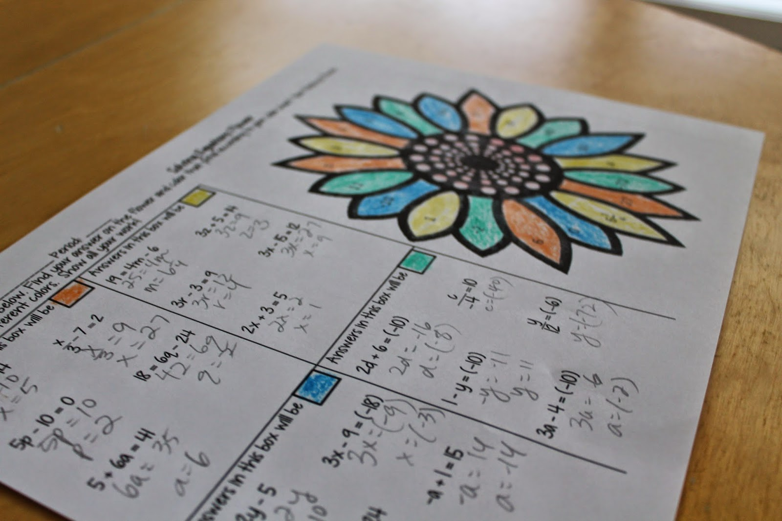 Math Dyal Coloring In High School