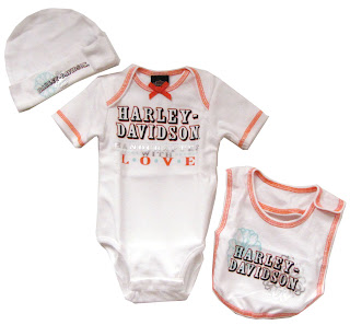 33c50db5a11 The line up is super and the styles are sweet. You can see all of them in  our Kids section at www.adventureharley.com. Here is a peek at  Baby Outfits