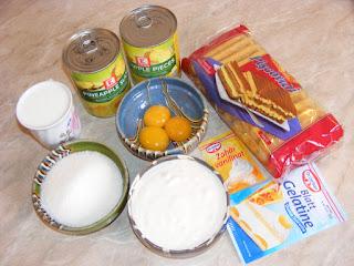 retete si preparate din picoturi frisca din smantana oua zahar si ananas,