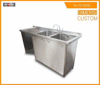 Kitchen Sink Murah Type Double Bowl