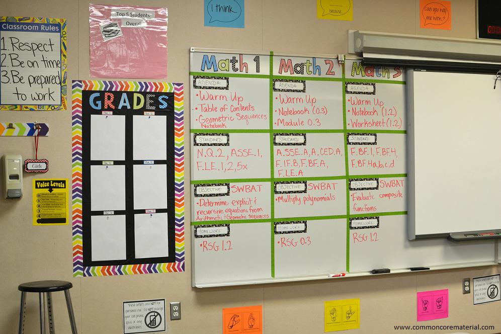 Classroom Decoration Whiteboard : Math classroom decorations