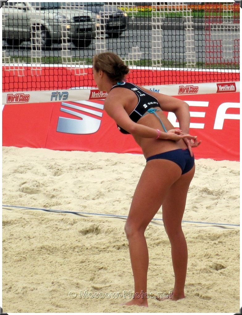 Beach volleyball cheeky hand-signals