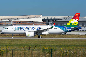 1st A320N for AirSeychelles