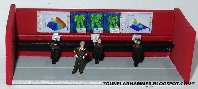 Diorama VHS Salle de controle Gundam 1/144