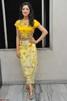 Richa Panai in Yellow Slim Fit Crop top ~ CelebxNext 009.JPG