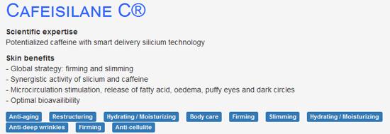 Cafeisilane c - bahan aktif untuk kuruskan badan tanpa rasa panas