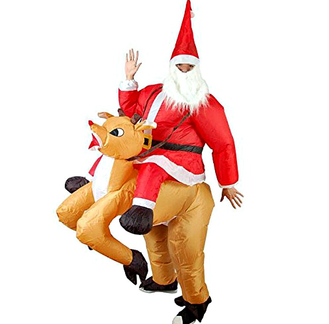 Inflatable christmas santa costume. Unique Christmas Gifts Under £30 for men, women, teenagers, tweens, boys, girls, kids.
