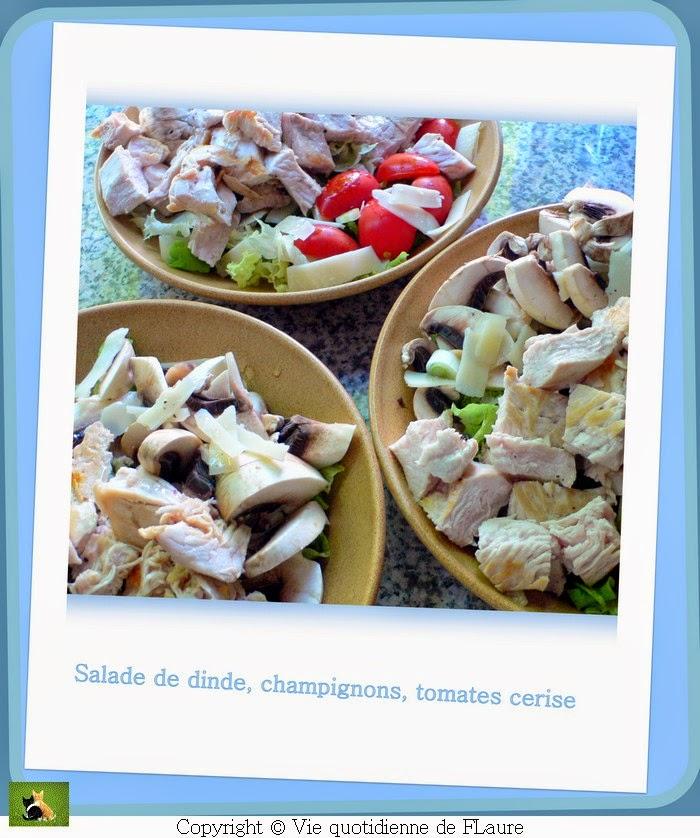 Vie quotidienne de FLaure: Salade de dinde, champignons et tomates cerise