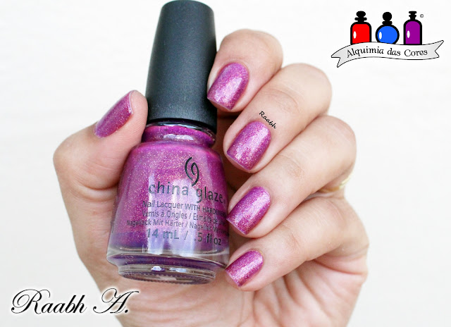 China Glaze We Got The Beet, China Glaze Lite Brites 2016, Esmalte Jelly, Roxo, Glitter, Raabh A. 2018