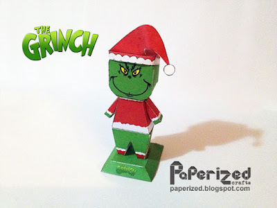 Papercraft imprimible y armable del Grinch. Manualidades a Raudales.