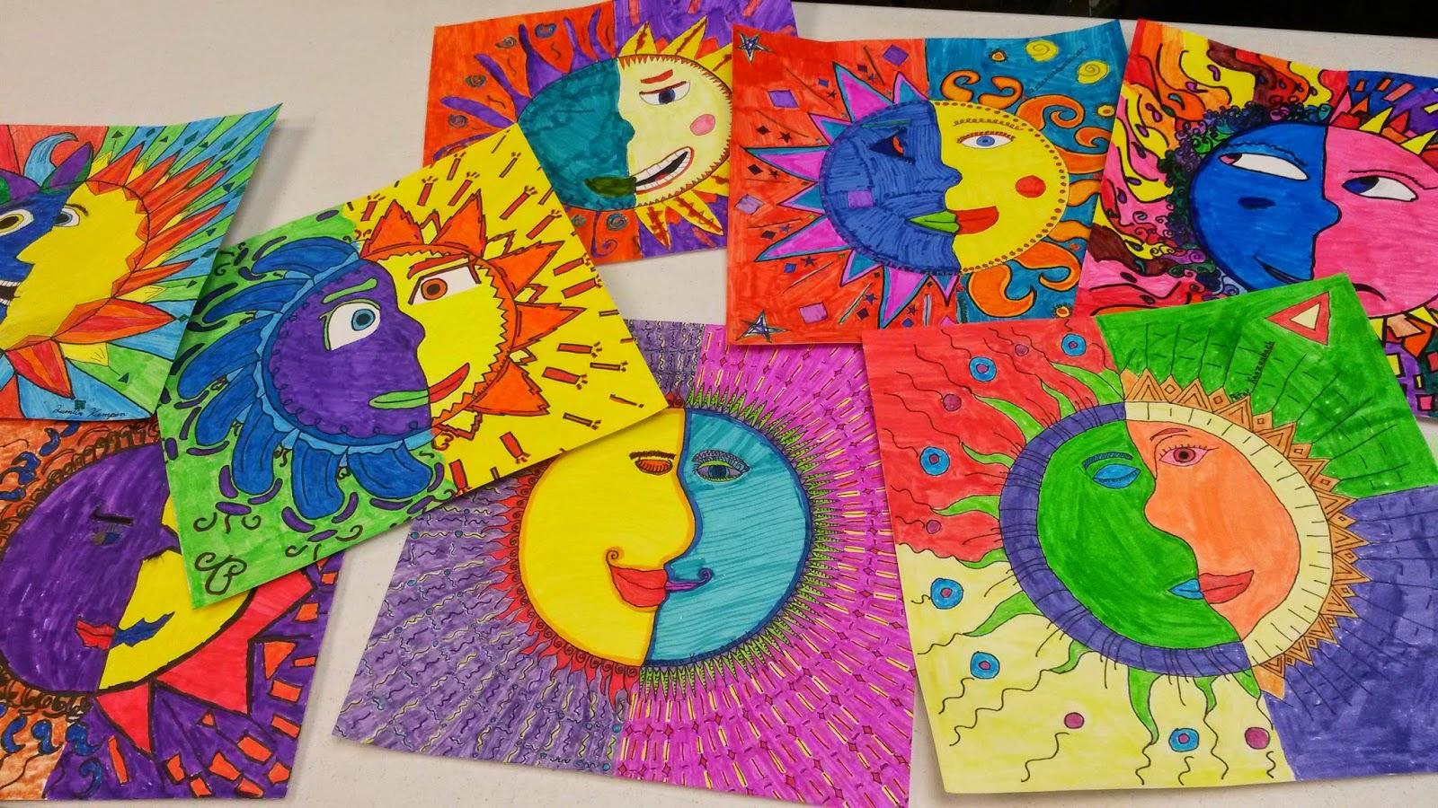 Artolazzi Home School Art Warm Cool Suns