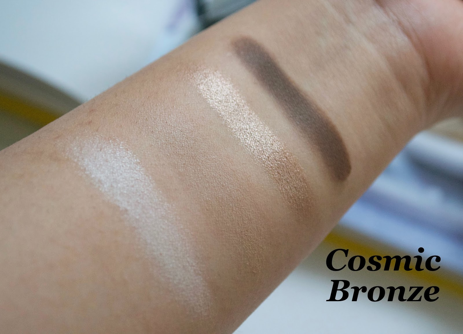Fleur de Force Eyeshadow Quad Cosmic Bronze Swatch - Aspiring Londoner