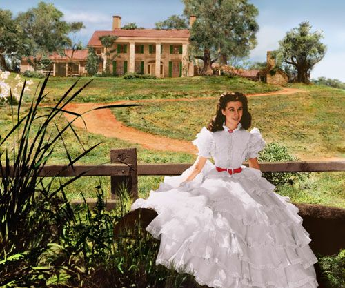 the costumes of gone with the wind scarlett s white ruffle dress
