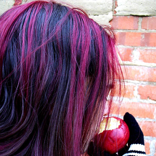 36 interesting purple highlights hair color ideas hairstylo purple highlights 8 pmusecretfo Image collections