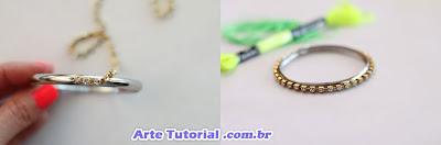 Personalizar pulseira com strass