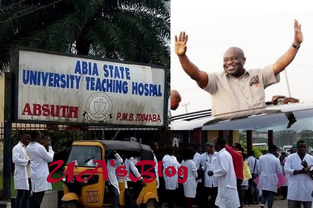 Heart Of Stone: Abia State Teaching Hospital Workers Cryout As Gov. Okezie Ikpeazu Withholds Their 10 Months Salary