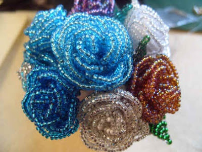 How to make a beaded rose.