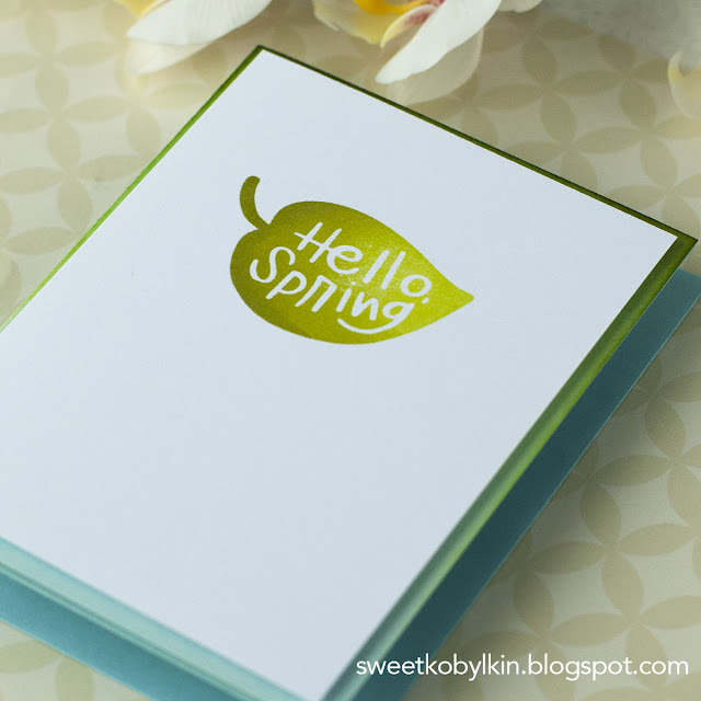 Clean And Simple Ombre Card