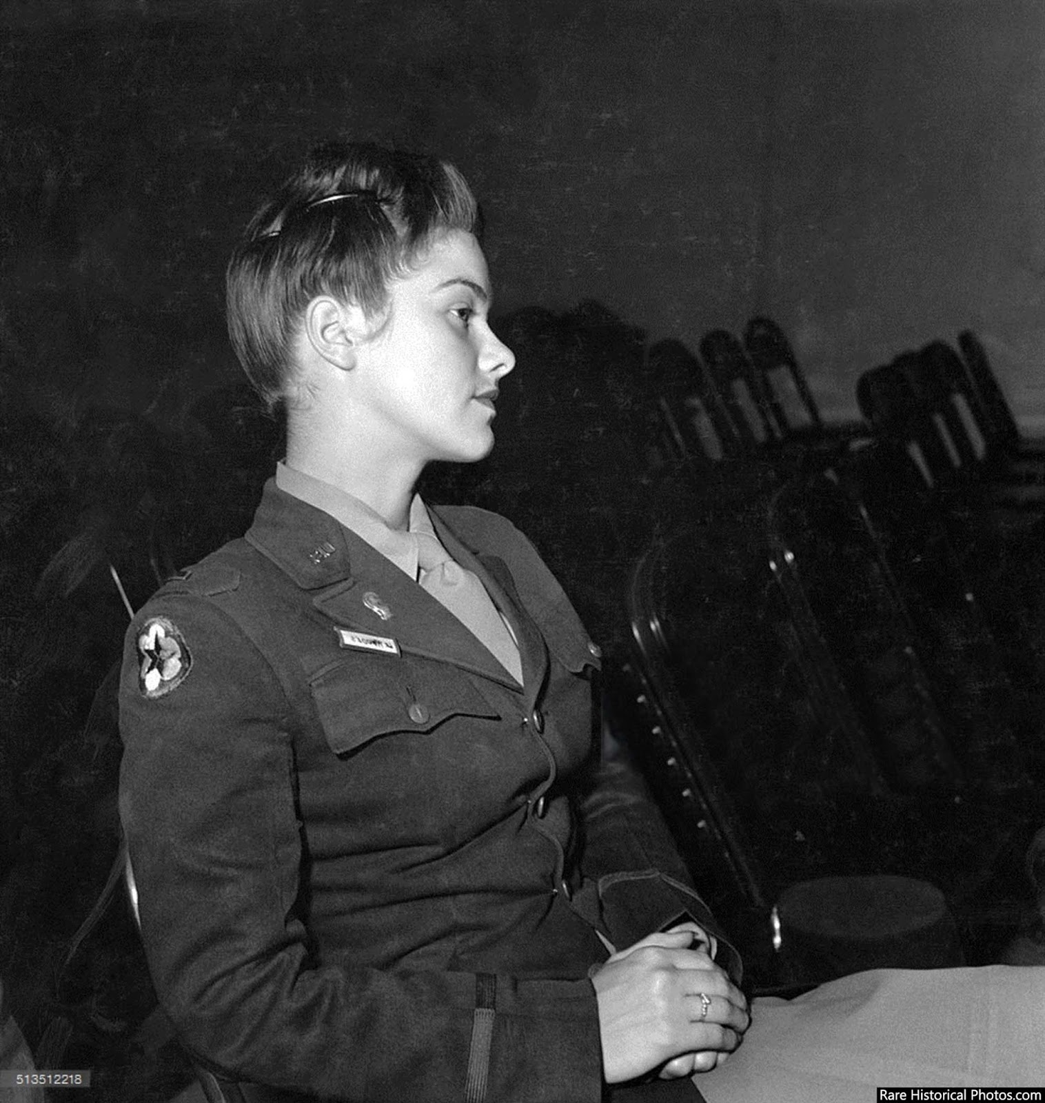 Lt. V. Rhodes of the WAAC at Fort Oglethorpe, Georgia, 1943.