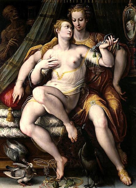 STRADANUS: La Vanità, la Modestia e la Morte - sex art
