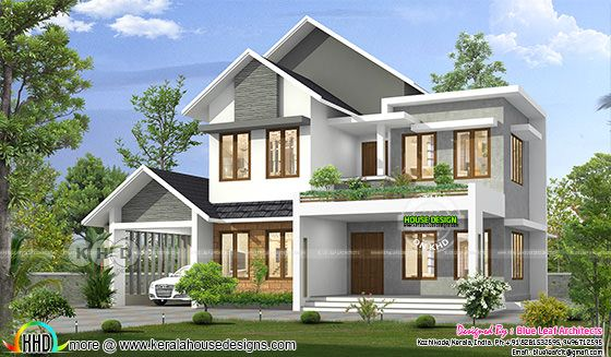 Mixed roof 2540 square feet 4 bedroom home