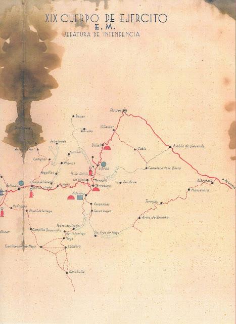 intendencia-xix cuerpo ejercito-guerra civil-carreteras-caminos