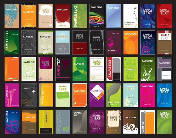 Variety of business card template 01 vector Free vector