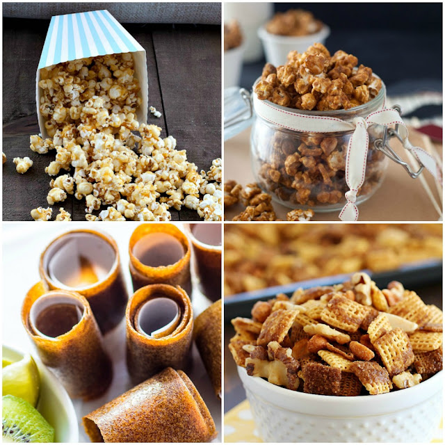 24 Marvelous Movie Munchies - There is a little bit for everybody. Sweet, spicy, crunchy, chewy, all bases are covered from www.bobbiskozykitchen.com