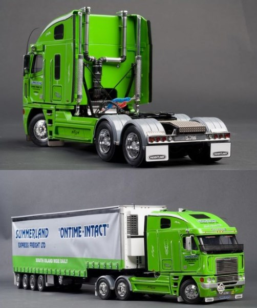 gambar miniatur truk trailer
