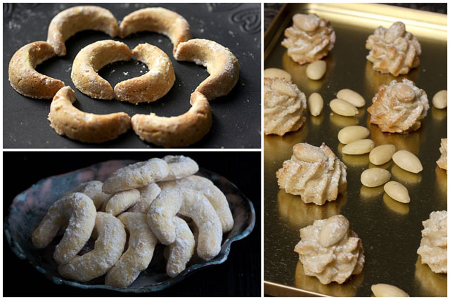 Prhke kiflice i mekani kolačići sa bademima